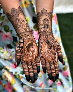 10 Rockstar Mehendi Artist You Must Follow for your henna Inspo!, Artist 2 bride groom mehndi