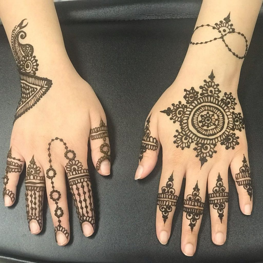 15+ Unique Mehendi Designs for Kids Hands– Check Out Now!, Atistic patterns