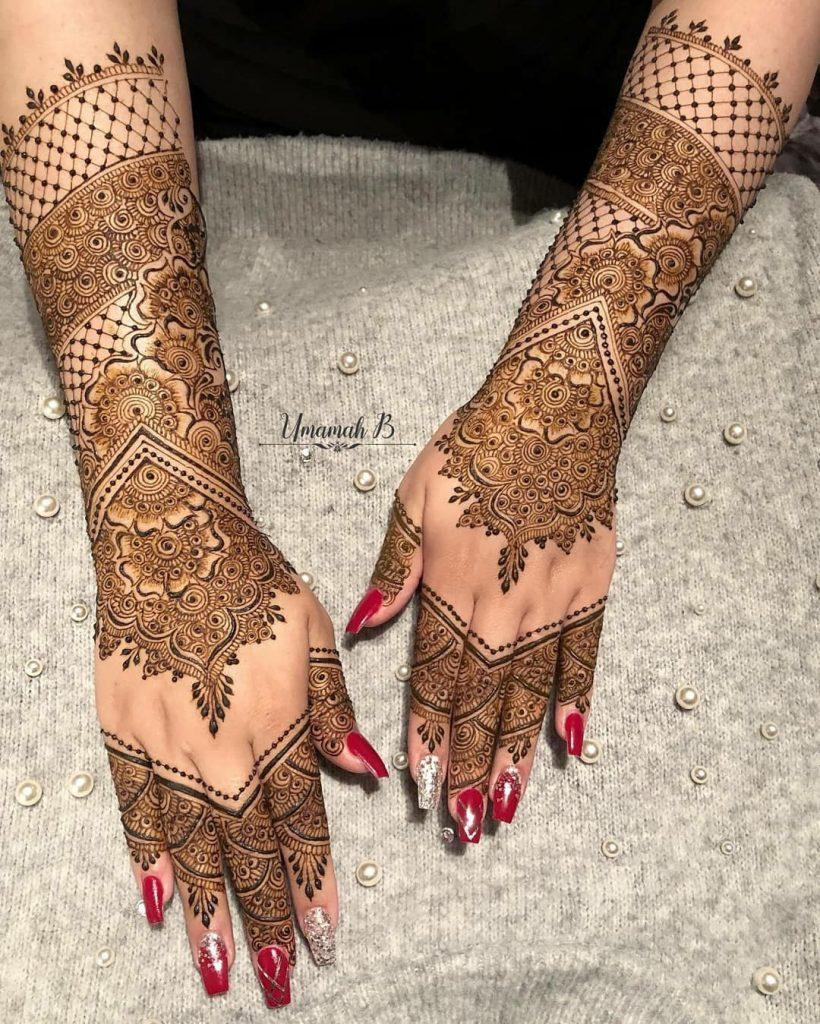 20+ Amazing Floral Mehendi Designs, Flowers and mesh pattern