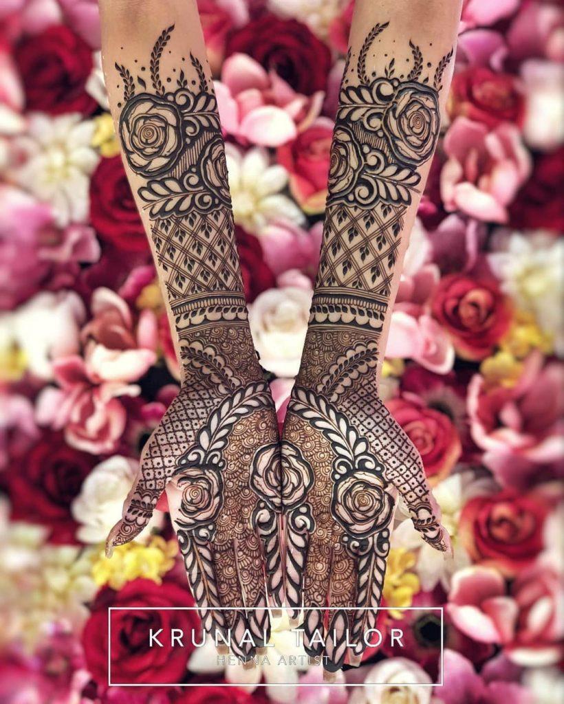 20+ Amazing Floral Mehendi Designs, Full Floral Bouquet design Mehendi