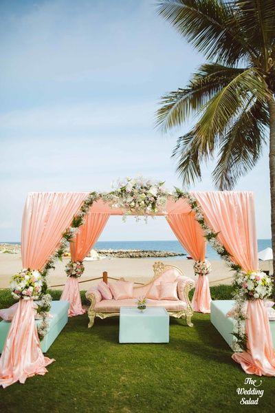 12 Gorgeous Mandap Decor For Beach Weddings, 2 1 1