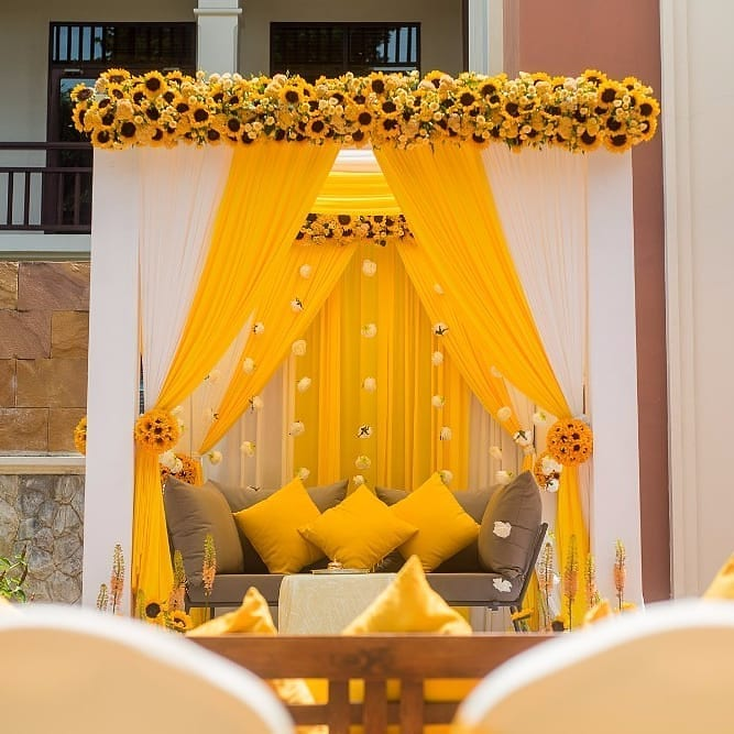 19 Incredible Haldi Decor Ideas for the perfect Indian Wedding, 2 6