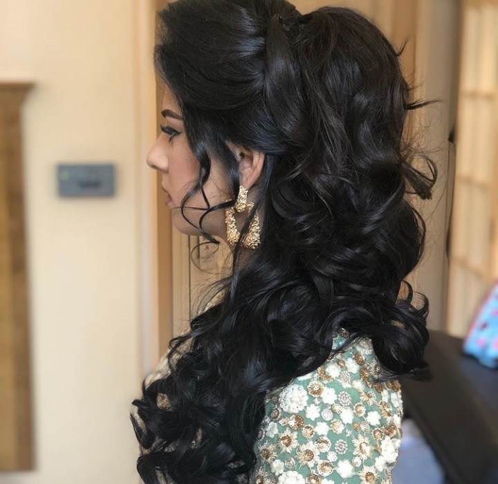 best Indian bridal hairstyle for engagement