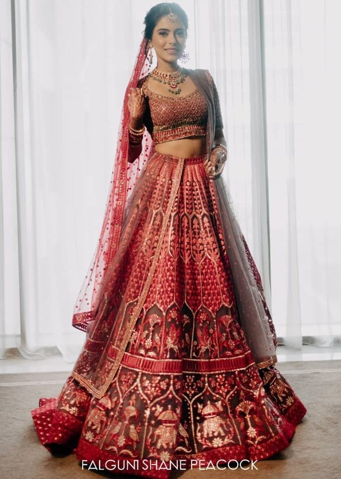 Top Indian Designer Every Bride Has To Know Before Finalising Her Bridal Outfits, falgunishanepeacockindia 1595589090064 e1596875229464