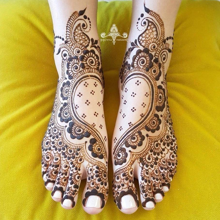 24 Amazing Feet Mehendi Designs for Brides, 103365588 575200613381044 6045933623988530806 n