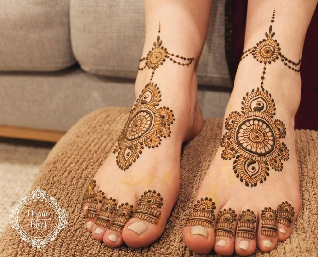 24 Amazing Feet Mehendi Designs for Brides, 71498415 2273695002921546 5401478308328952496 n