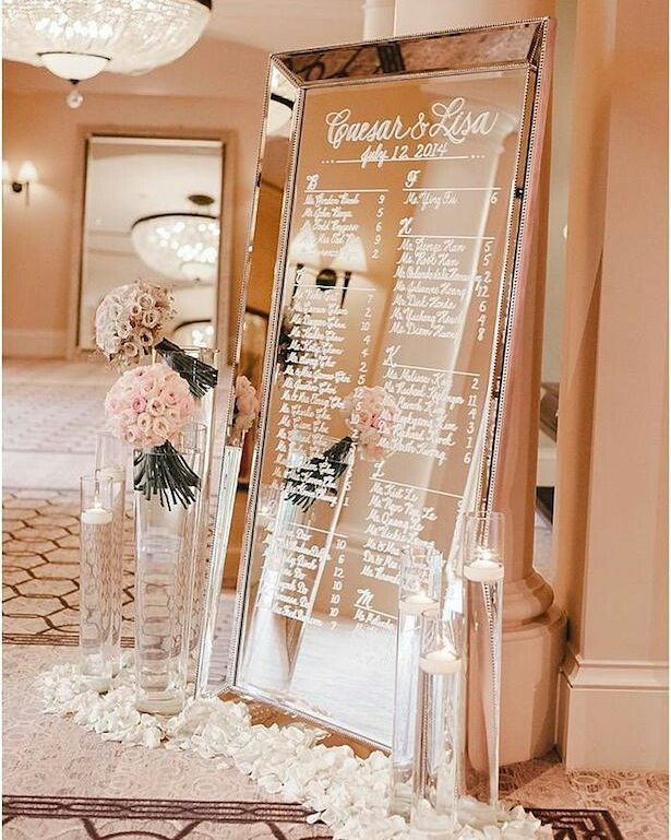 #Timeless trends: Fancy and Elegant Mirror Decor and Welcome Signs, p 6