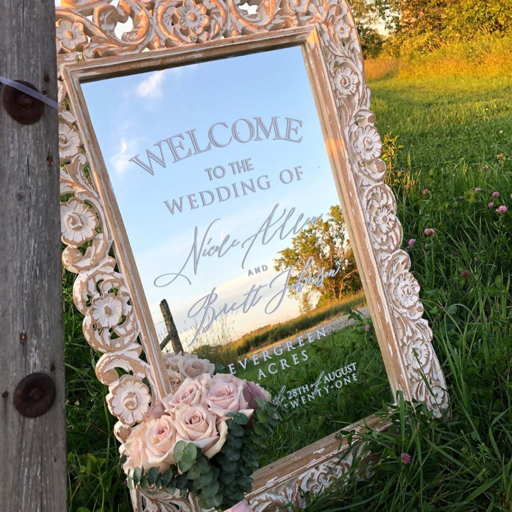 #Timeless trends: Fancy and Elegant Mirror Decor and Welcome Signs, 1 57