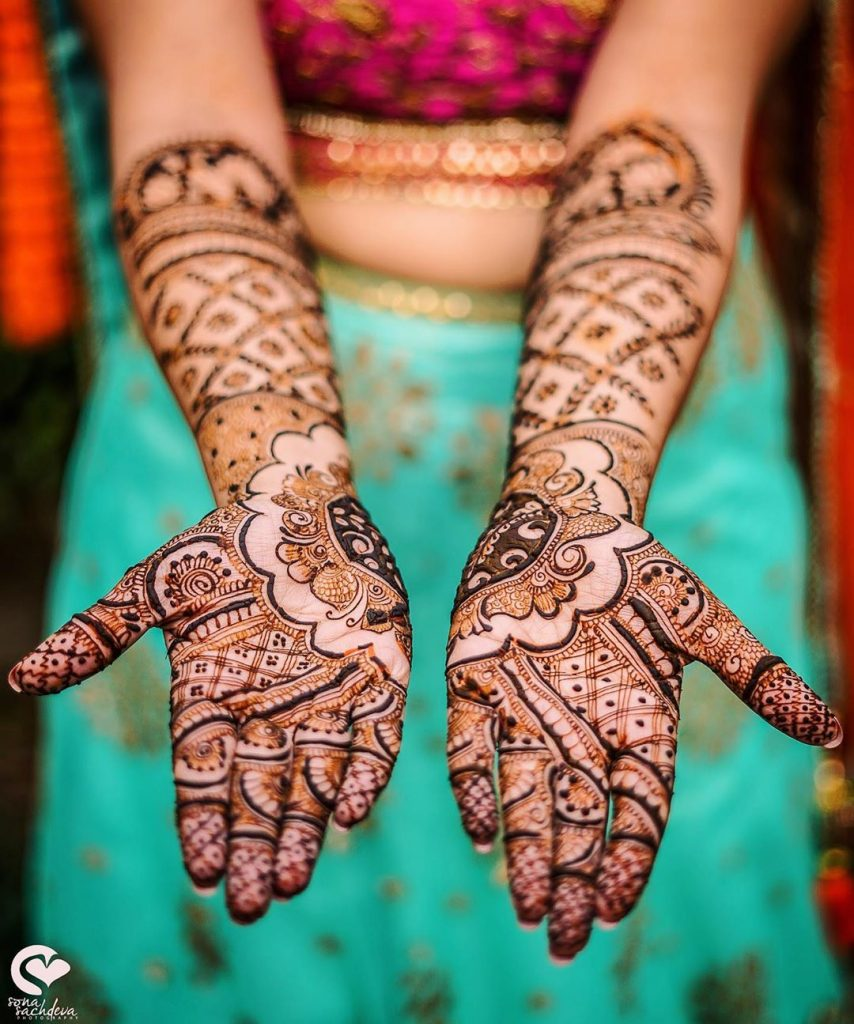 20+ Mandala Mehendi Designs for Brides, 11. Big Mandala Design in Two Hands