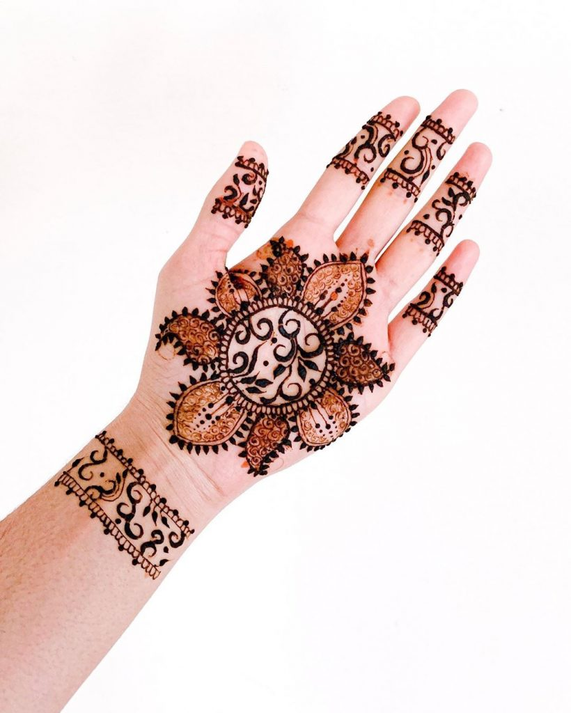20+ Mandala Mehendi Designs for Brides, 14. Multi Design Mandala