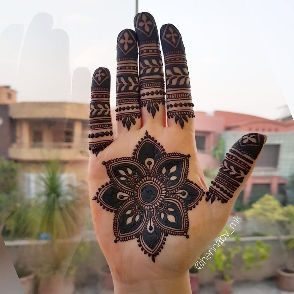 20+ Mandala Mehendi Designs for Brides, 20.Dark Mandala Design