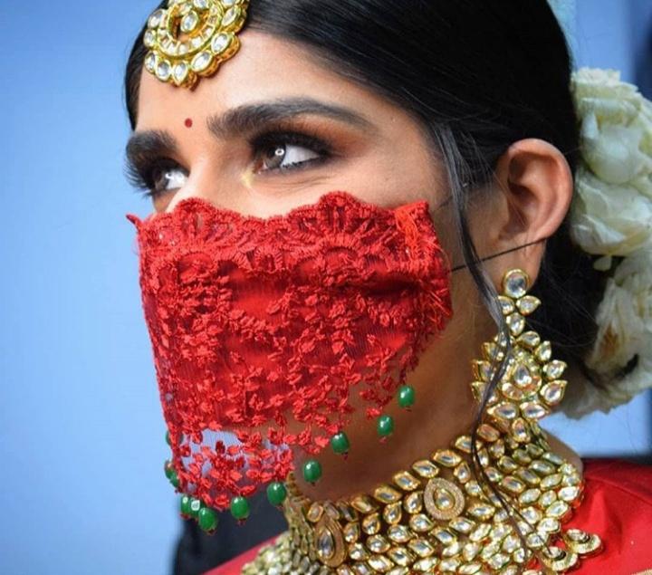 bridal mask