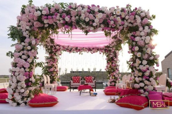 All Pink Decor Elements for a Fairytale Wedding Venue, m 1