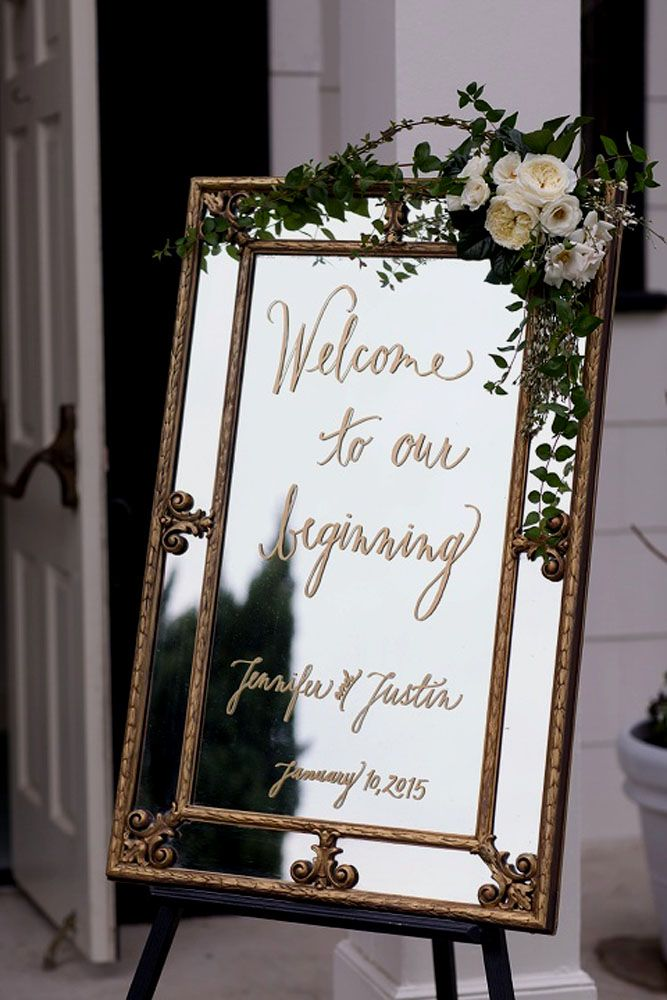 #Timeless trends: Fancy and Elegant Mirror Decor and Welcome Signs, m 26