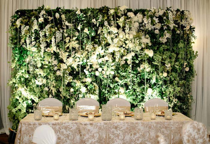 Floral Backdrop and Circle Arches for a Heavenly Wedding, m 49