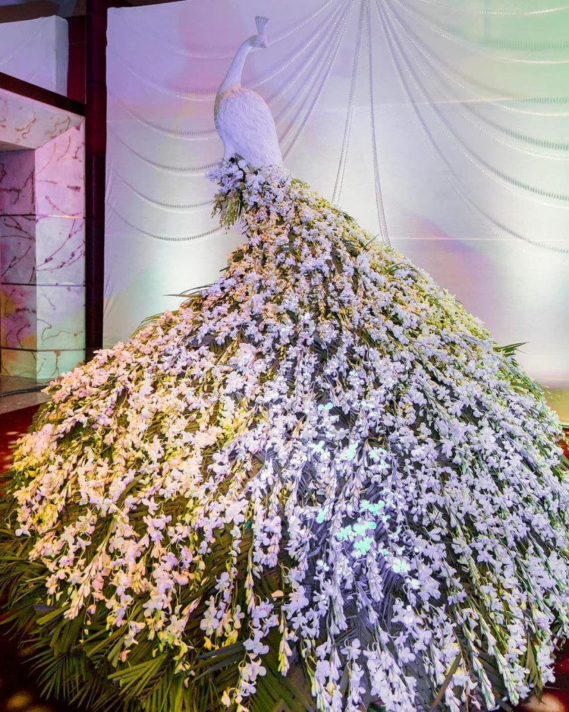 Beautify your Wedding with Fancy and Floral Peacock Decor, m 55