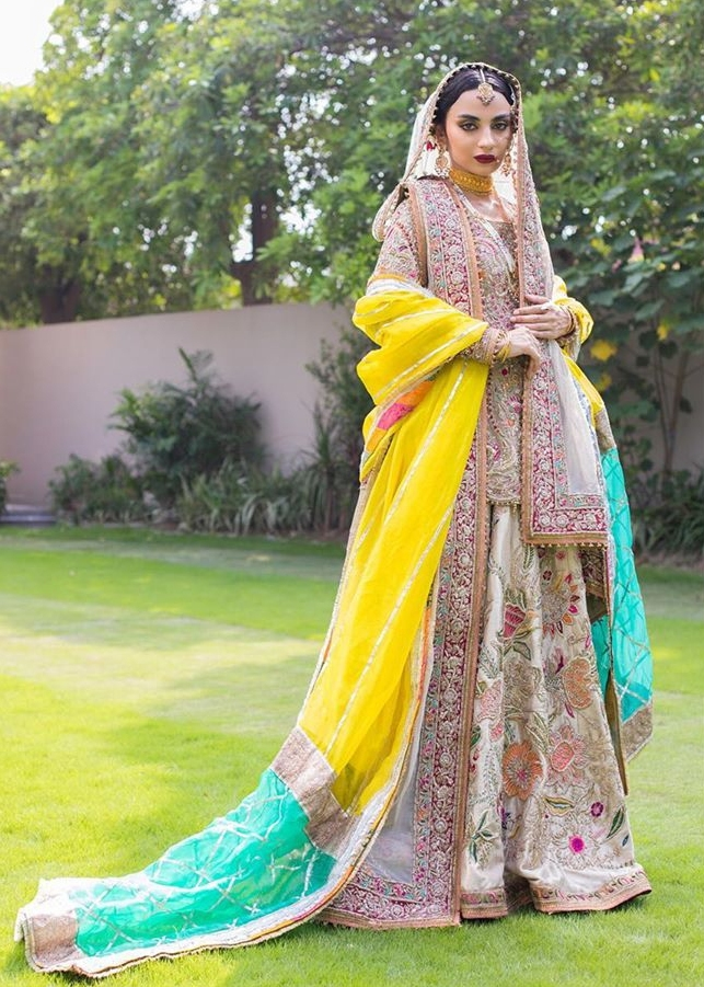 multi-colored lehenga