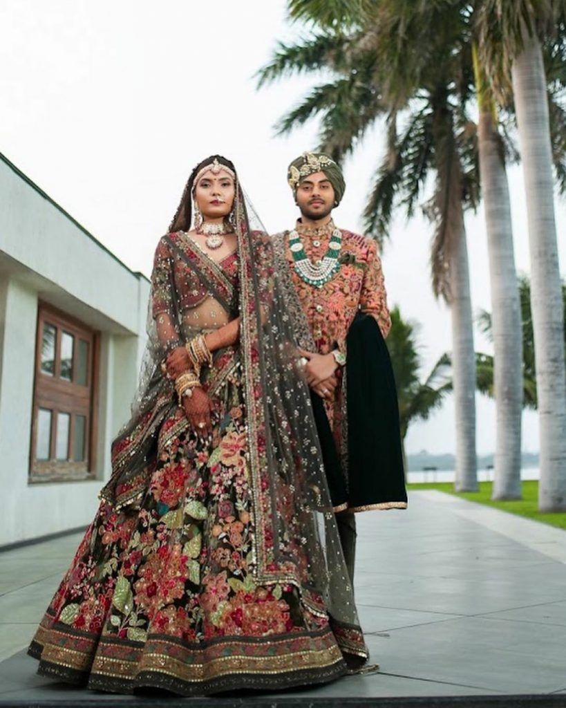 Multi-Colored Lehengas For Your Pheras That Are Trending On Instagram, sabyasachimulticolor
