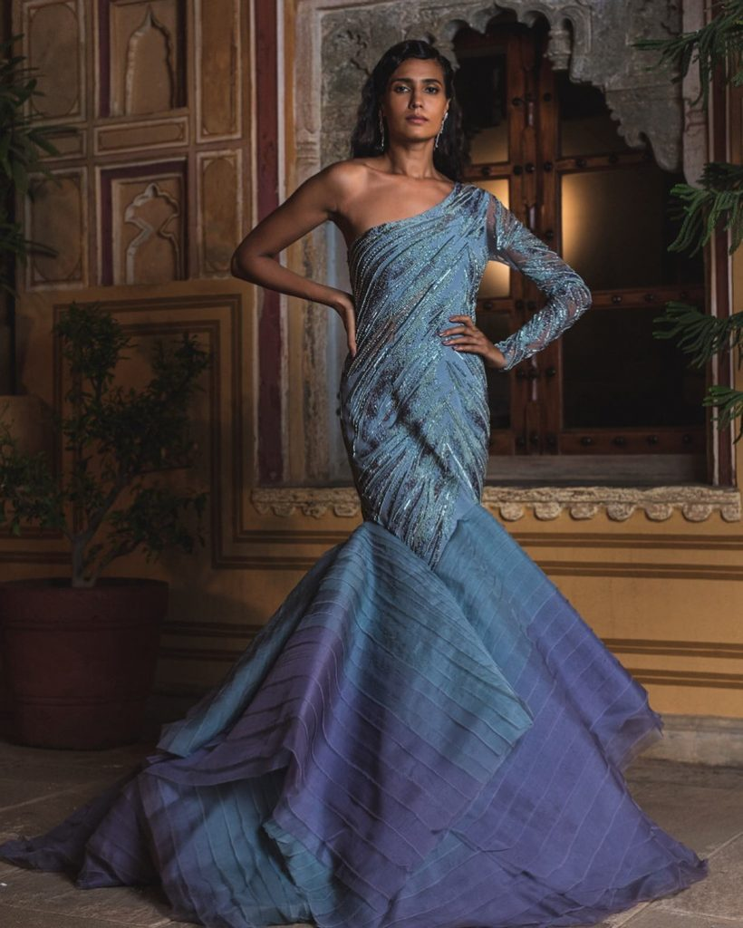 fishtail gown