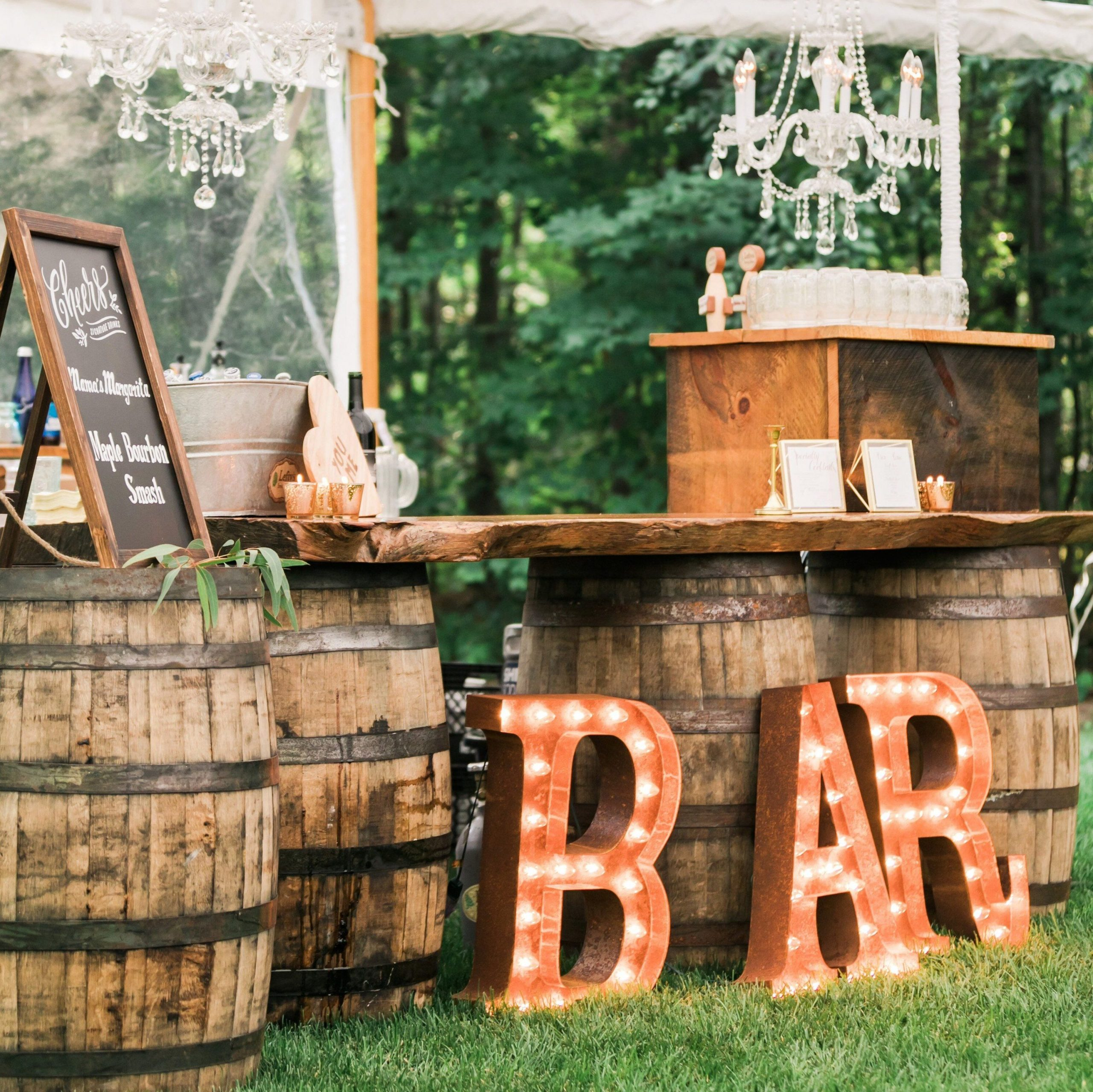 Impressive Wedding Bar Themes and Setup Ideas, An Intimate Wedding at the Brides Family Home in Massachusetts 1 edited 1 scaled