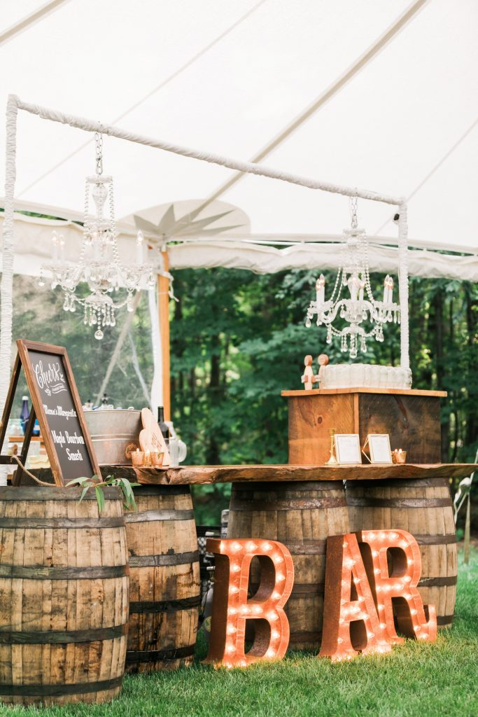 Amazing Wedding Sign Board Ideas to Spot, An Intimate Wedding at the Brides Family Home in Massachusetts