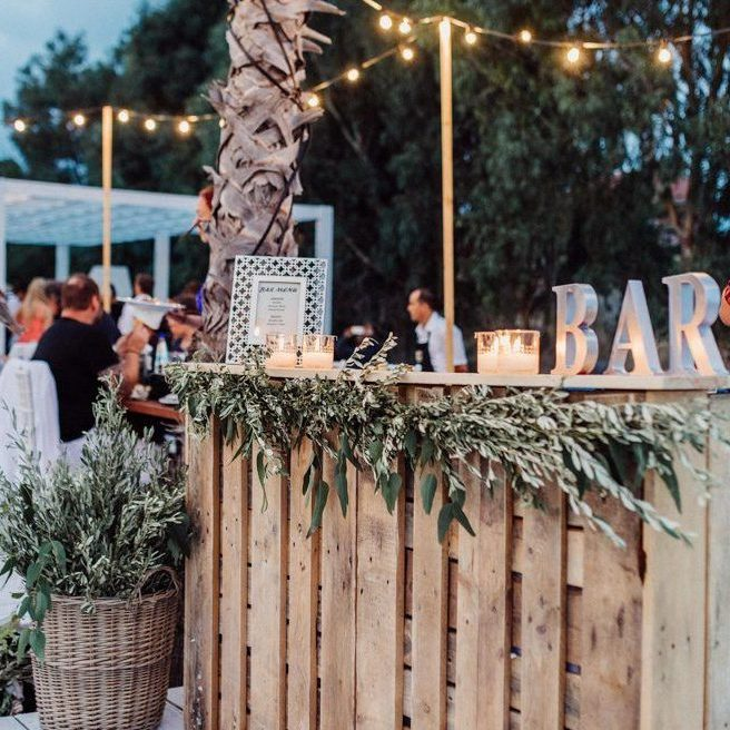 Impressive Wedding Bar Themes and Setup Ideas, Secluded Beach Wedding at Villa Seven in Rhodes Greece   Junebug Weddings edited 1
