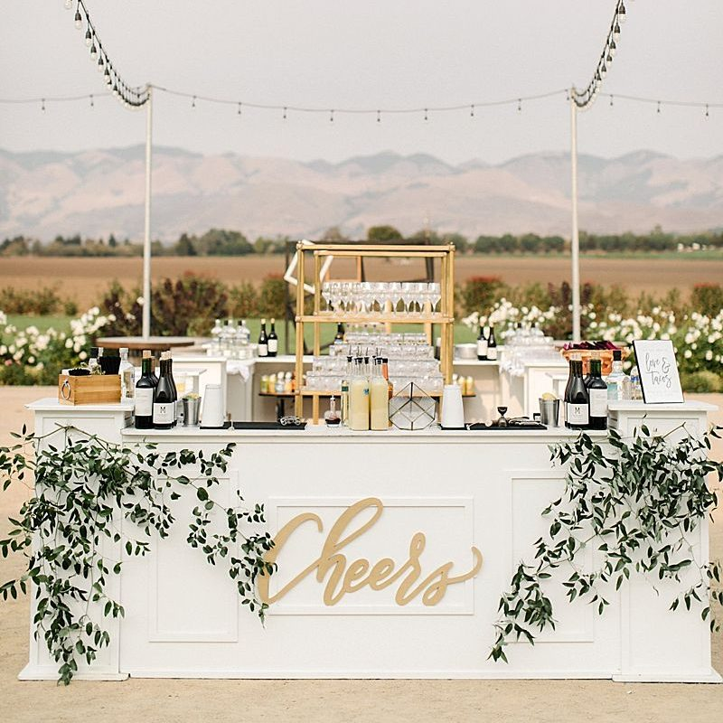 Impressive Wedding Bar Themes and Setup Ideas, White Barn Edna Valley Wedding edited