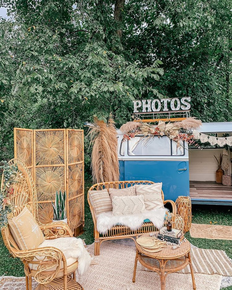 Amazing Wedding Sign Board Ideas to Spot, instagramphotodownload.com Norma Jean Photo Booth Bus